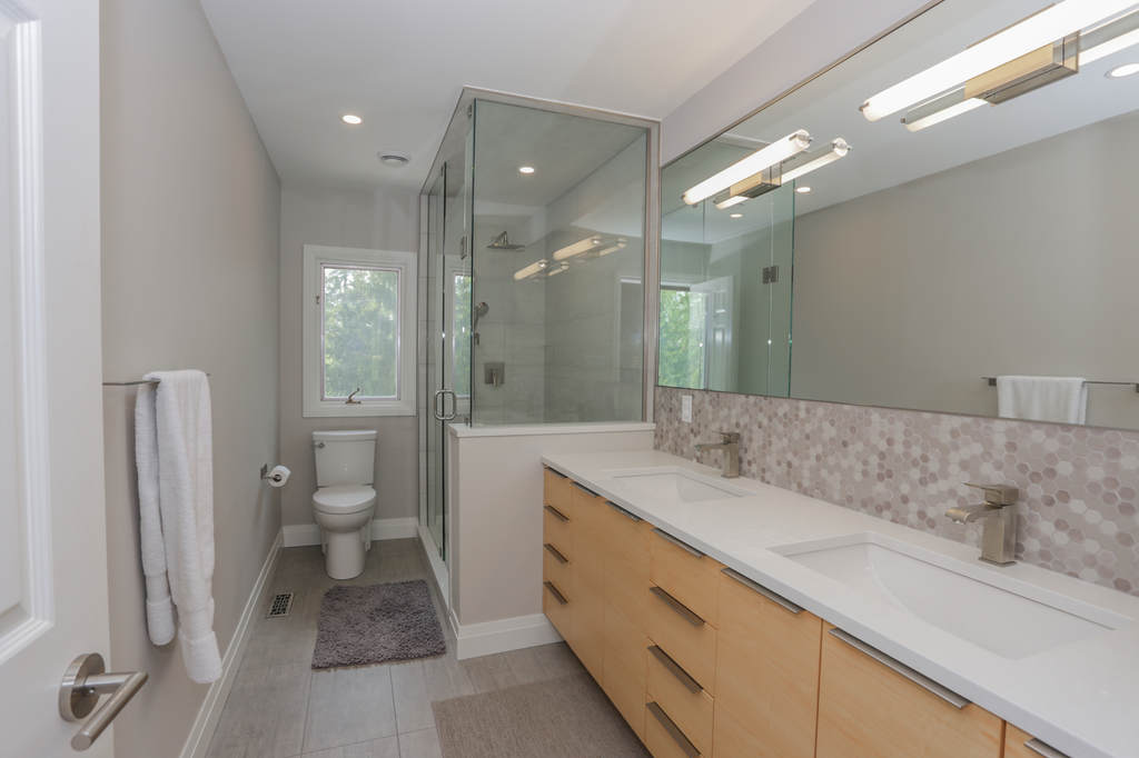 Bathrooms. London Ontario bathroom design and installation / renovation project by Core Builders, a London Ontario home builder & home renovations contractor.