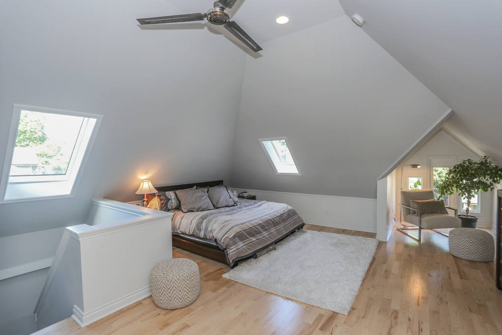 Interiors. Bedrooms. Attics. London Ontario renovations / interior design / renovation / construction project by Core Builders, a London Ontario home builder & home renovations contractor.
